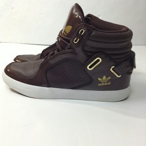 Adidas brown shoes sz10